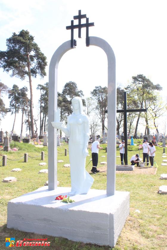 Недавно в деревне Тевли на мемориале была проведена реконструкция